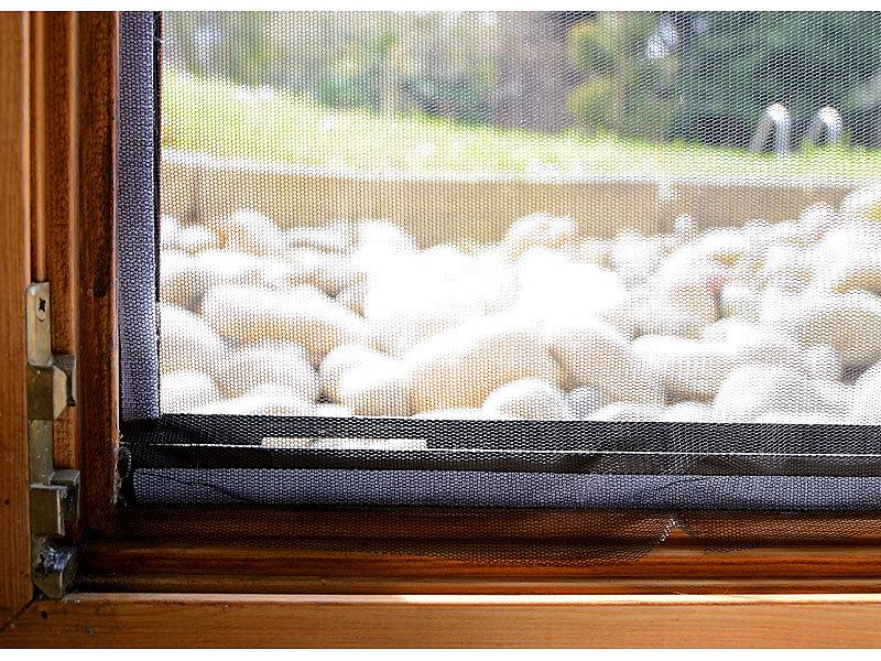 infactory fliegengitter f r fenster 130 x 150 cm inkl 6 m klebeband. Black Bedroom Furniture Sets. Home Design Ideas