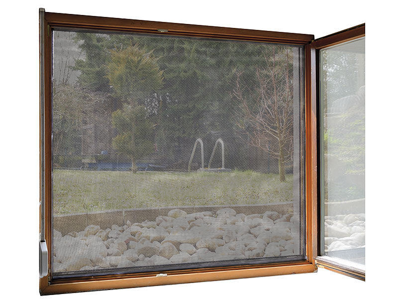 infactory fliegennetz fliegengitter f r fenster 130 x 150 cm inkl 6 m klebeband insektengitter. Black Bedroom Furniture Sets. Home Design Ideas
