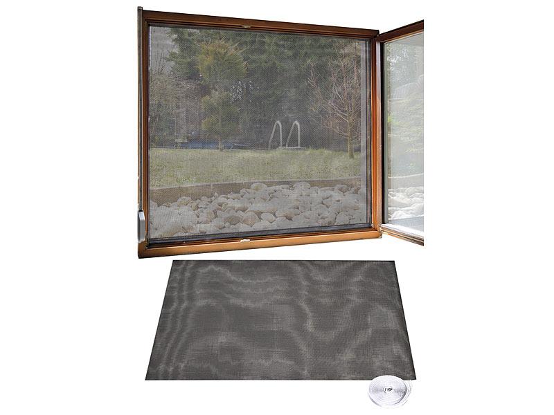 infactory fliegengitter f r fenster 130 x 150 cm inkl 6 m klebeband 2er set. Black Bedroom Furniture Sets. Home Design Ideas