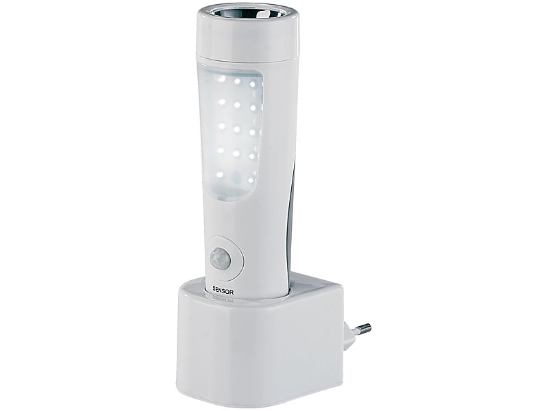 lunartec 2 in 1 led nachtlicht mit akku taschenlampe pir sensor. Black Bedroom Furniture Sets. Home Design Ideas