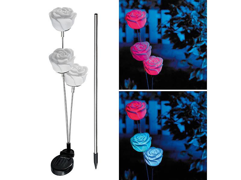 Lunartec Solar Blumen: Solar-LED-Gartendeko \