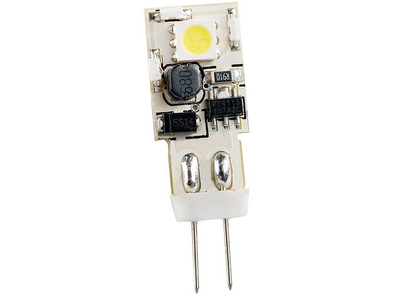 Luminea led lampen g4: stiftsockellampe mit 8 smd leds g4 12v