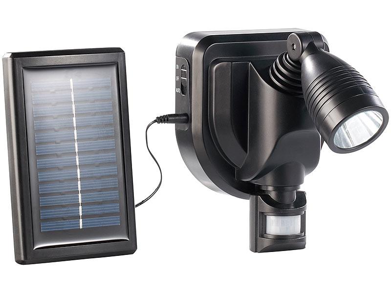lunartec solar au en wand strahler cree leds 3 watt. Black Bedroom Furniture Sets. Home Design Ideas