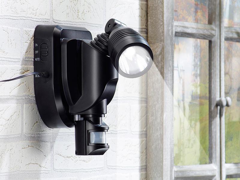 Neu Lunartec Solar Außen Wand-Strahler CREE LEDs, 3 Watt  KP63