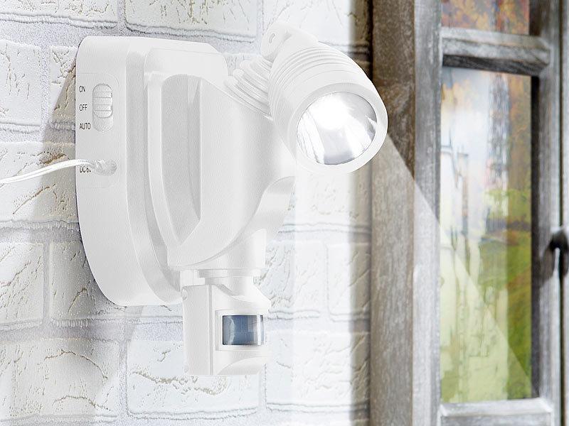 lunartec solar au en wandstrahler mit 3 watt cree led. Black Bedroom Furniture Sets. Home Design Ideas