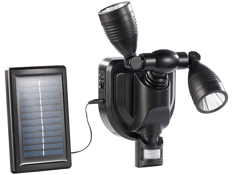 Neu Lunartec Duo Solar Außen Wand-Strahler CREE LEDs, 6 Watt, 250 lm  KP63