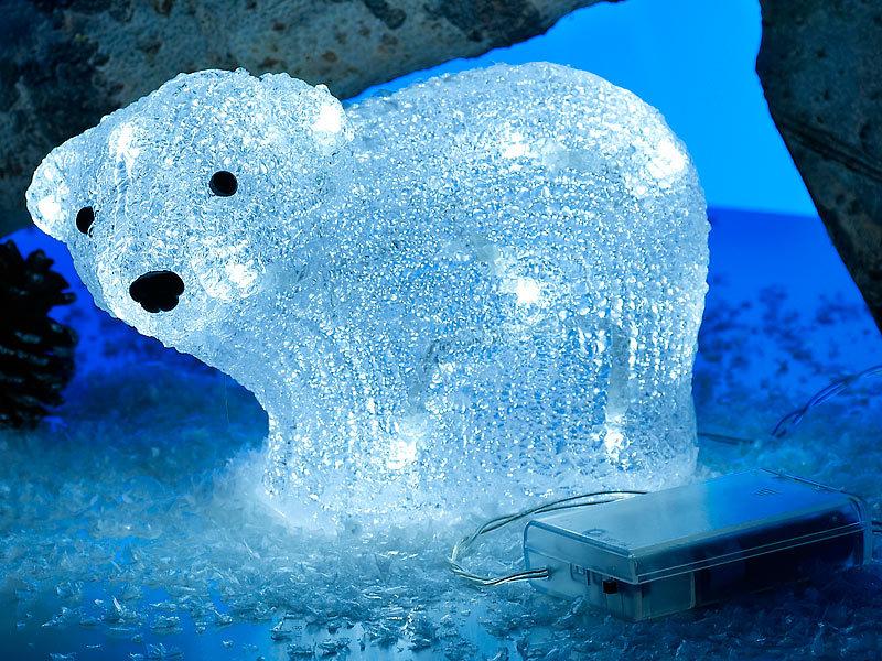 Lunartec weihnachts deko leuchtender acryl eisb r klaas for Leuchtfiguren