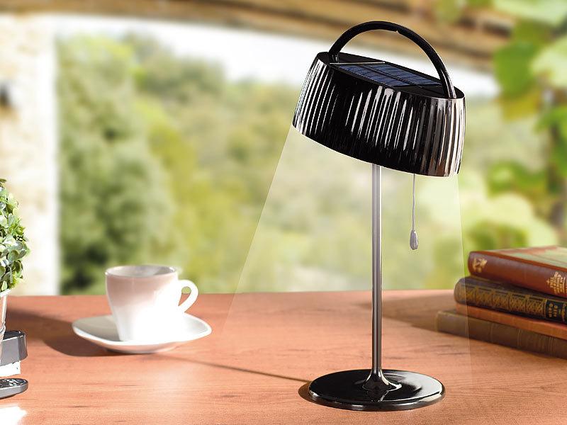 Superior Lunartec Elegante Solar LED Tischleuchte, Schwarz