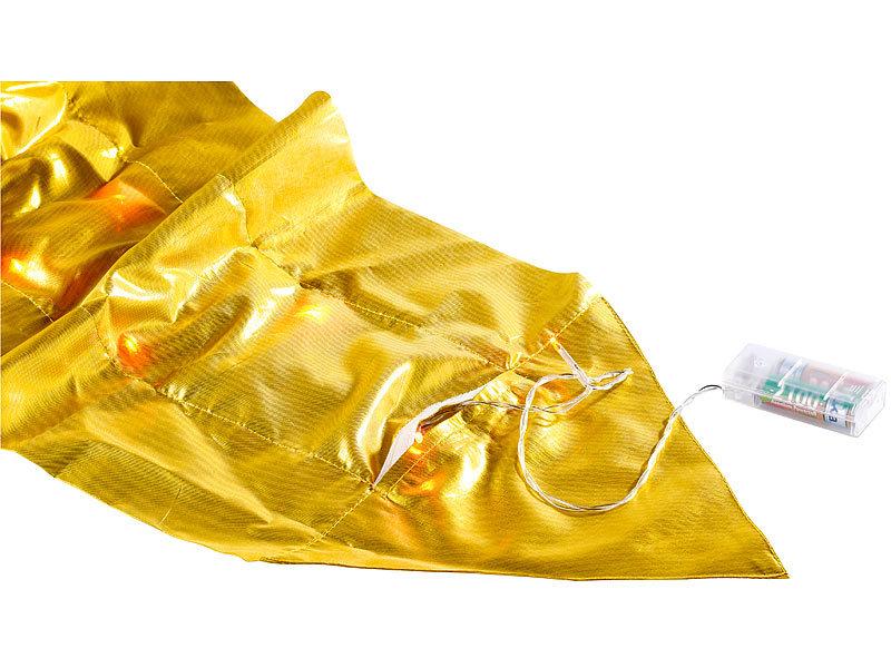 lunartec festlicher tischl ufer mit 20 leds gold. Black Bedroom Furniture Sets. Home Design Ideas