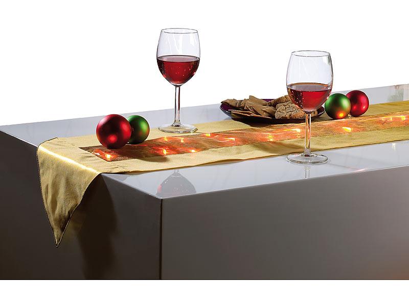 lunartec weihnacht dekorationen festlicher tischl ufer. Black Bedroom Furniture Sets. Home Design Ideas