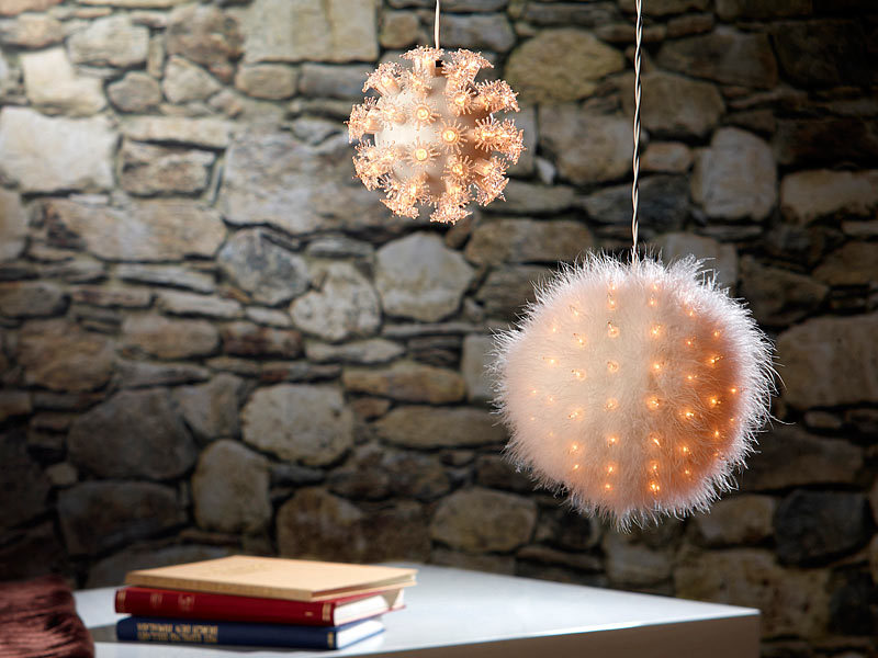lunartec dekorative leuchtkugel mit 50 birnchen 12 cm. Black Bedroom Furniture Sets. Home Design Ideas