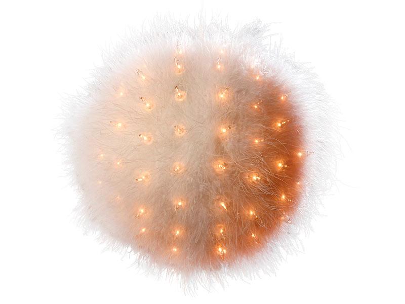 lunartec dekorative feder leuchtkugel mit 100 birnchen 16 cm. Black Bedroom Furniture Sets. Home Design Ideas