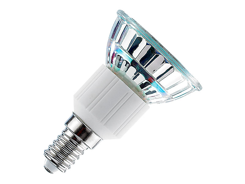 Luminea SMD-LED-Lampe, E14, 48 LEDs, grün, 85 lm