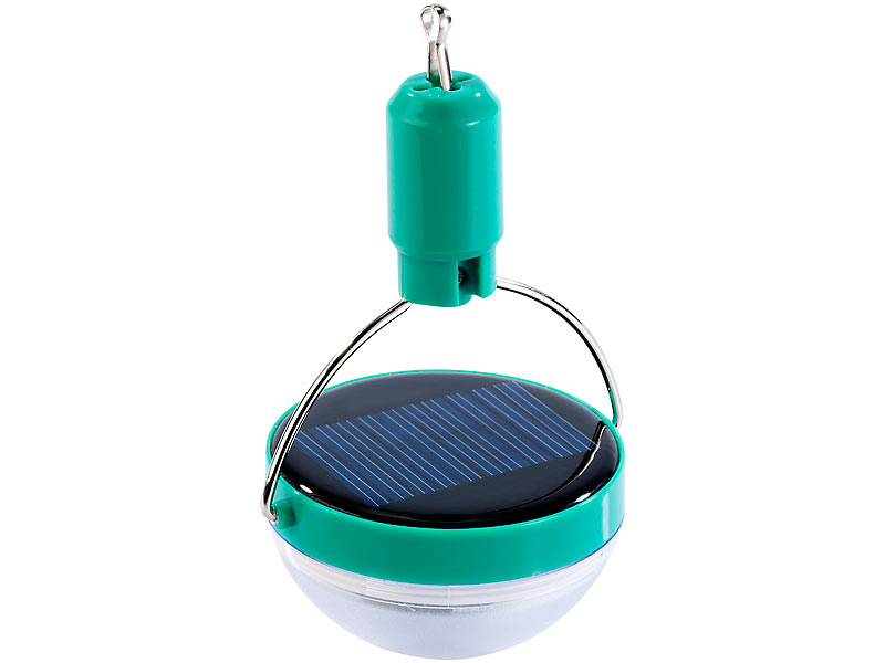 28 lm Solar Campinglampe: Mini-LED-Solar-Campingleuchte 600 mAh 0,26 W