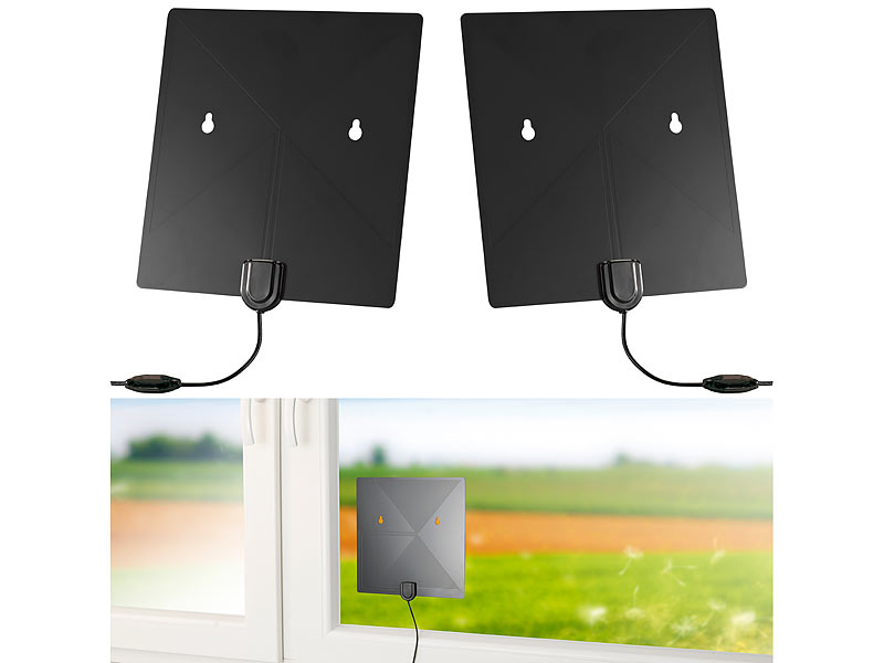 2 antennes plates TNT 2 UHD - Version active