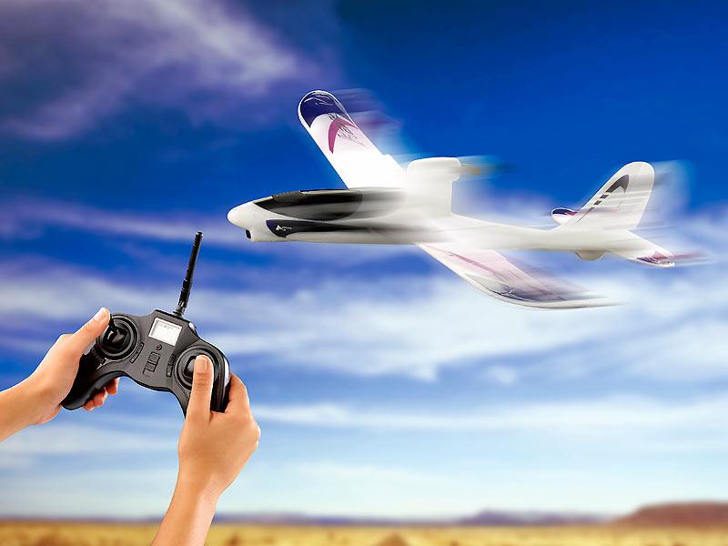 simulus rc flugzeug mf 100 ap 4 ch autopilot modellbau. Black Bedroom Furniture Sets. Home Design Ideas