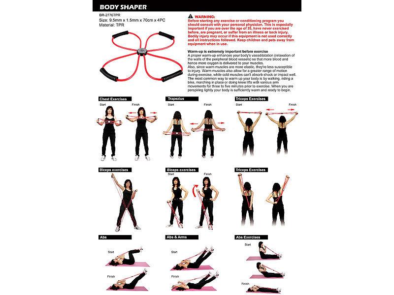 PEARL sports Expander Übungen: Multi-Expander Trainingsgerät für den ...