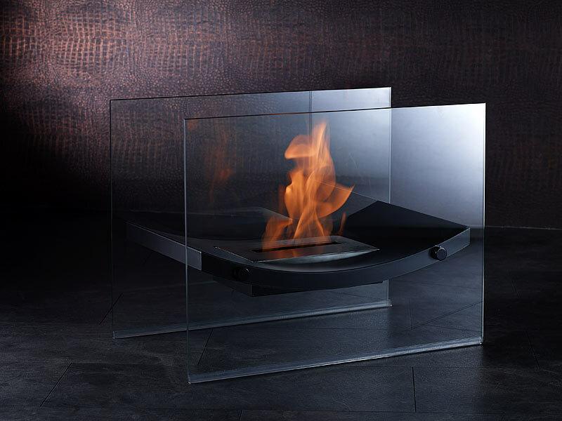 carlo milano gl serner standkamin mit edelstahlkammer f r bio ethanol. Black Bedroom Furniture Sets. Home Design Ideas