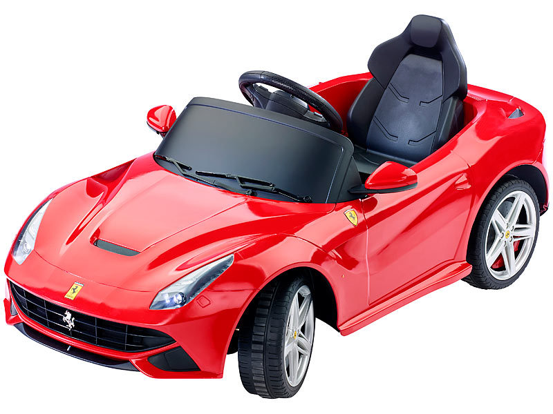playtastic ferrari f12 sportwagen elektro kinderfahrzeug mit fernbedienung. Black Bedroom Furniture Sets. Home Design Ideas