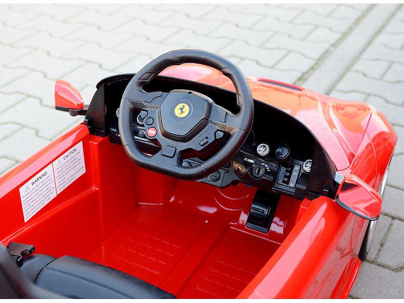 playtastic ferrari f12 sportwagen elektro kinderfahrzeug. Black Bedroom Furniture Sets. Home Design Ideas