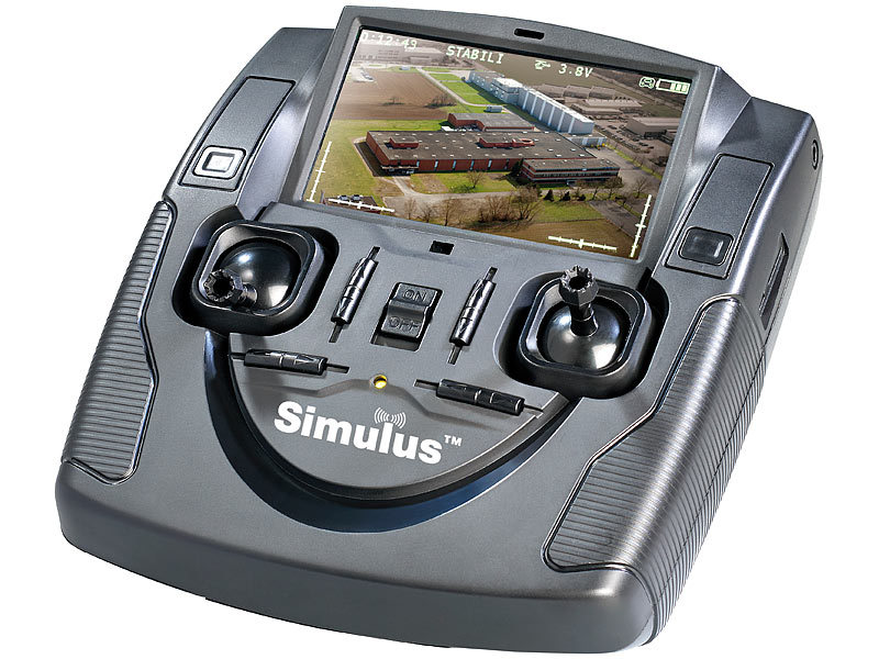 simulus 4 ch quadrocopter gh 4 live mit fpv kamera remote monitor. Black Bedroom Furniture Sets. Home Design Ideas