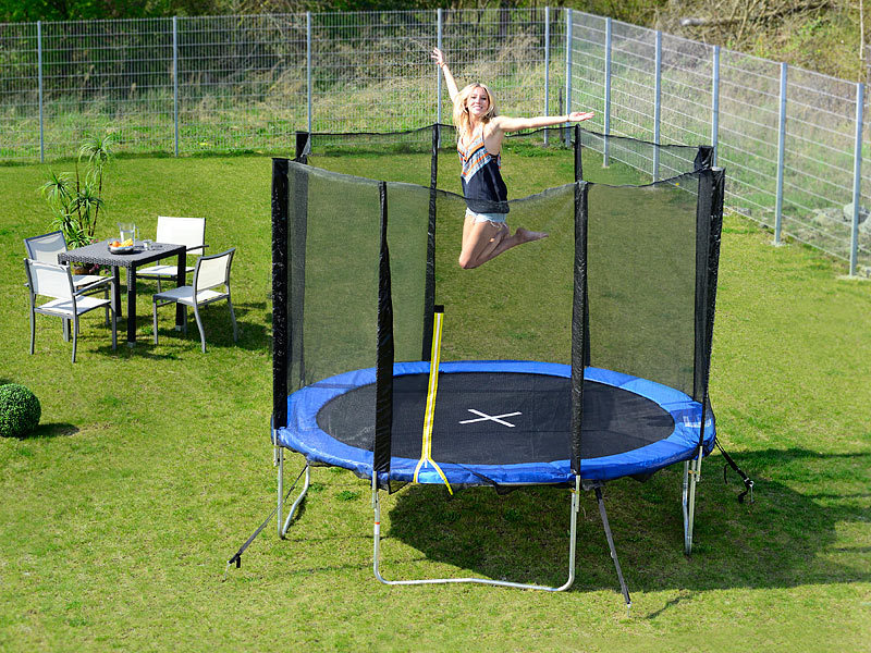 pearl sports garten trampolin trn 305 mit sicherheitsnetz 305 cm refurbished. Black Bedroom Furniture Sets. Home Design Ideas