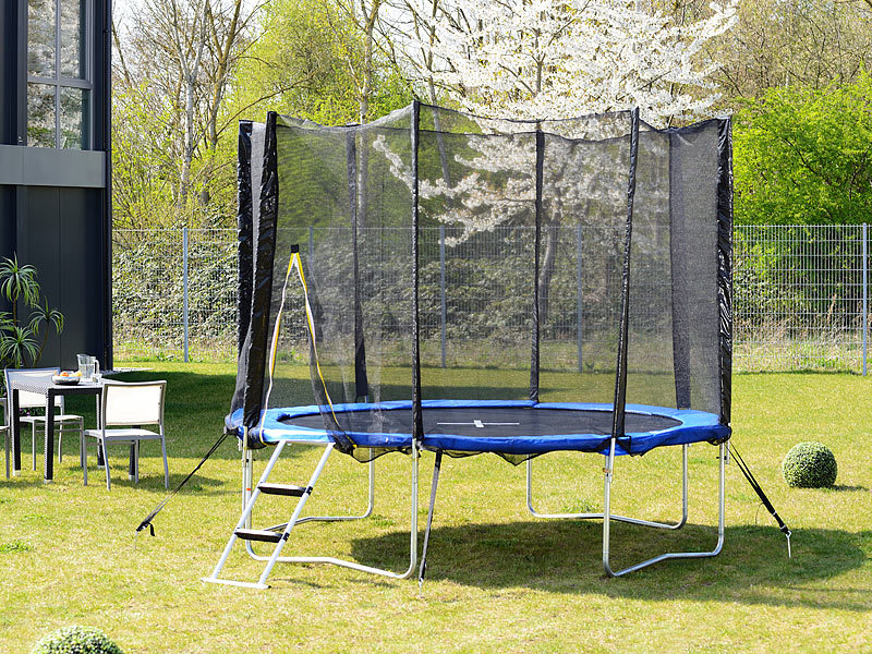 pearl sports garten trampolin trn 305 mit sicherheitsnetz 305 cm. Black Bedroom Furniture Sets. Home Design Ideas