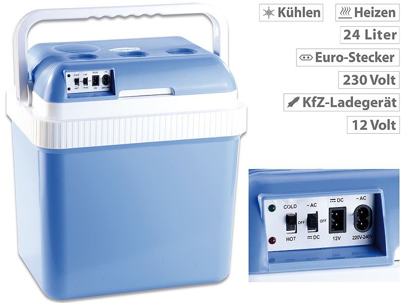 Xcase Mini Kühlschränke: Thermoelektrische Kühl- und Wärmebox, 24 l ...