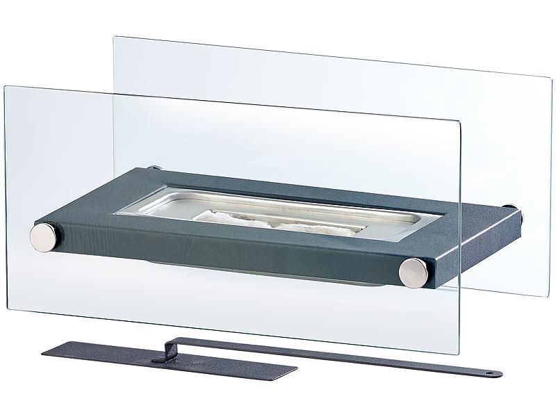 Gläserner Tischkamin für Bio-Ethanol