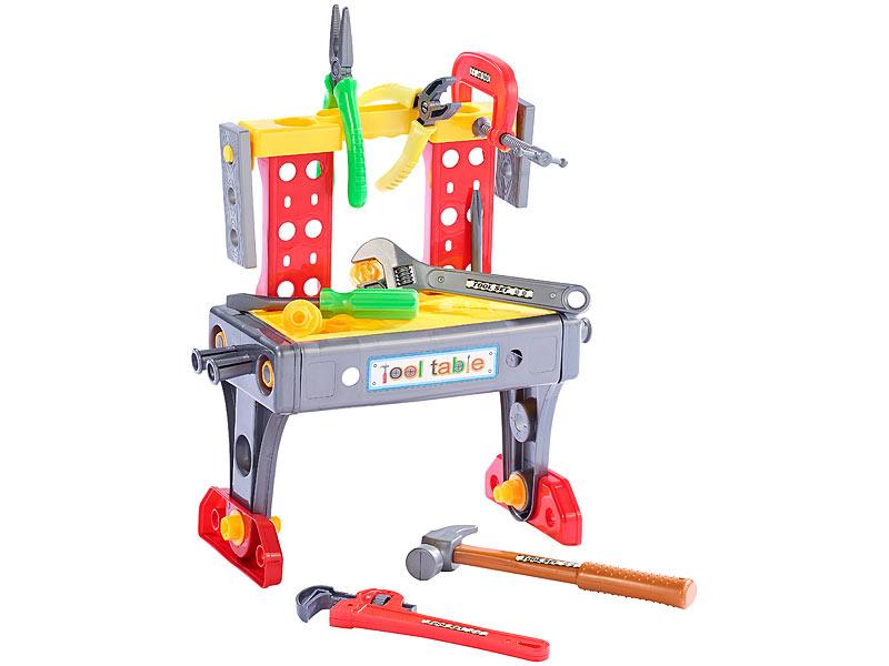 Berühmt Playtastic Werkzeugkoffer mit Mini-Werkbank, Höhe 36 cm, 39 Teile VN29