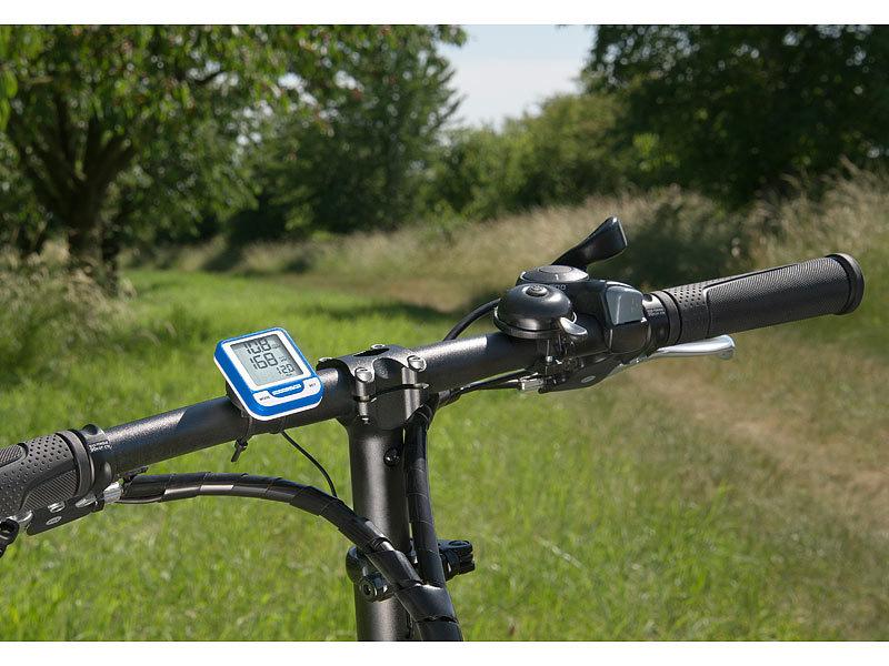 PEARL Tacho: Kabelloser Fahrrad-Computer BC-100.wl inkl Brustgurt Fahrradcomputer mit Pulsmesser