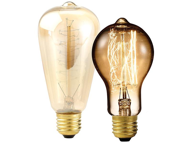Filament-Leuchtmittel: 2 Vintage-Schmucklampen mit handgewickelten ...