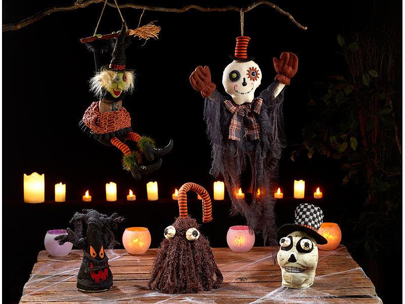 Infactory Halloweendeko Lachende Und Mit Beinen Ausschlagende Hexe