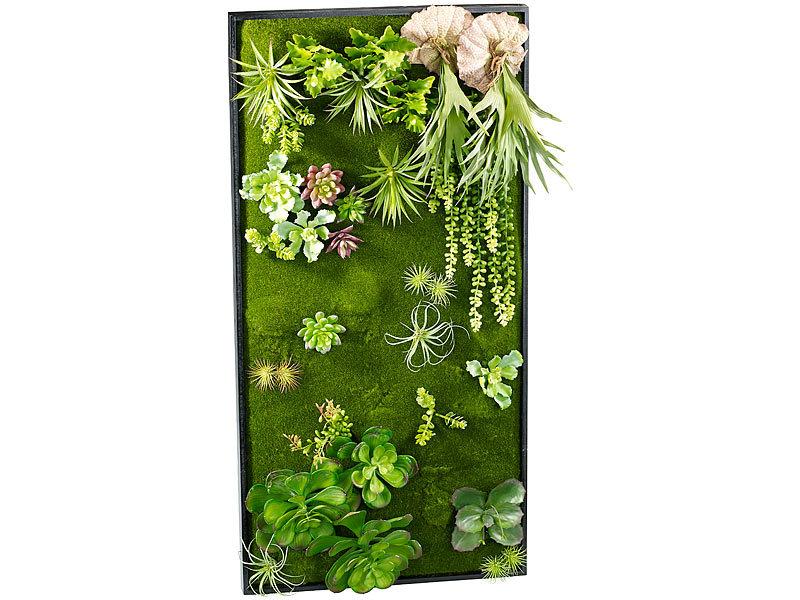 Carlo milano vertikaler wandgarten klaus mit deko pflanzen 50x100 cm - Vertikaler wandgarten ...