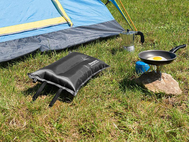 semptec aufblasbares luftkissen selbstaufblasendes camping kopf und sitz kissen outdoor kissen. Black Bedroom Furniture Sets. Home Design Ideas