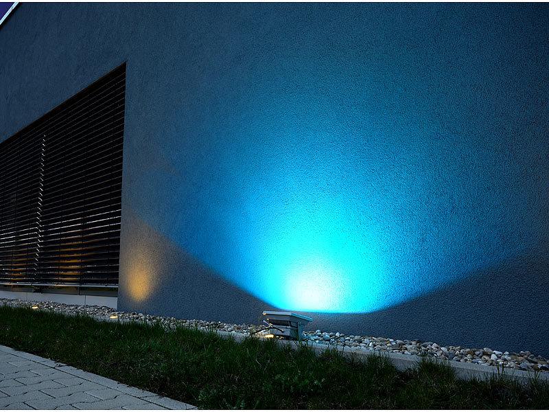 luminea rgb strahler garten wetterfester led fluter rgb metallgeh use 30 w ip65. Black Bedroom Furniture Sets. Home Design Ideas