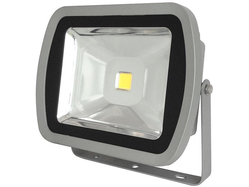 luminea wetterfester led fluter im metallgeh use 80 w ip65 warmwei. Black Bedroom Furniture Sets. Home Design Ideas