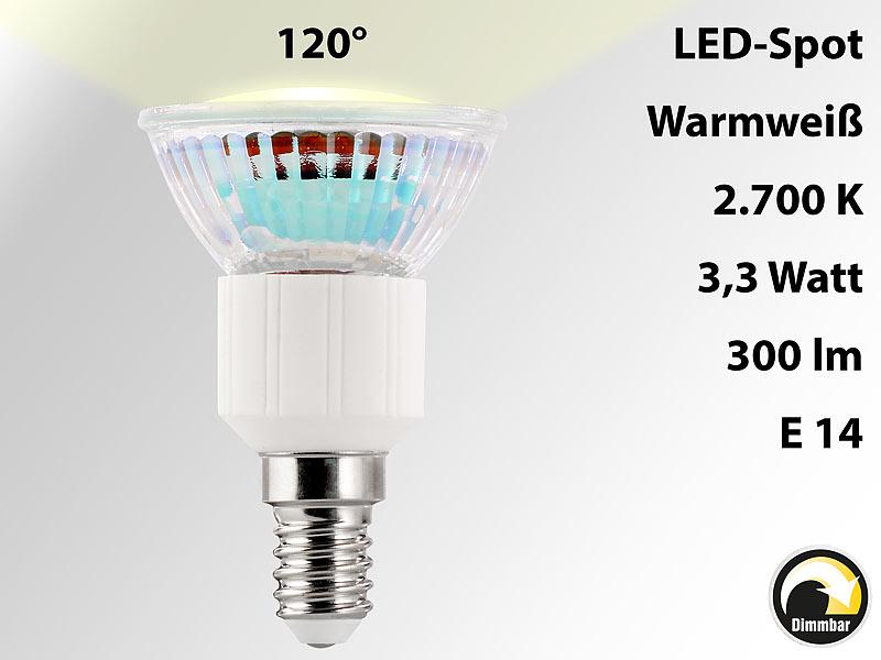 luminea led spot e14 3 3w warmwei 2700k 300 lm dimmbar. Black Bedroom Furniture Sets. Home Design Ideas