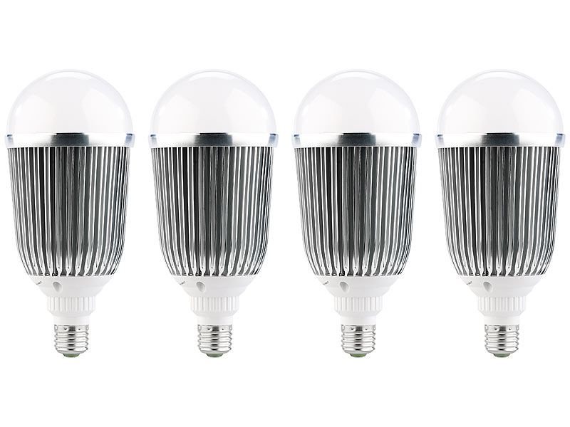 luminea lampe mit e27 fassung led lampe e27 18 watt 1. Black Bedroom Furniture Sets. Home Design Ideas