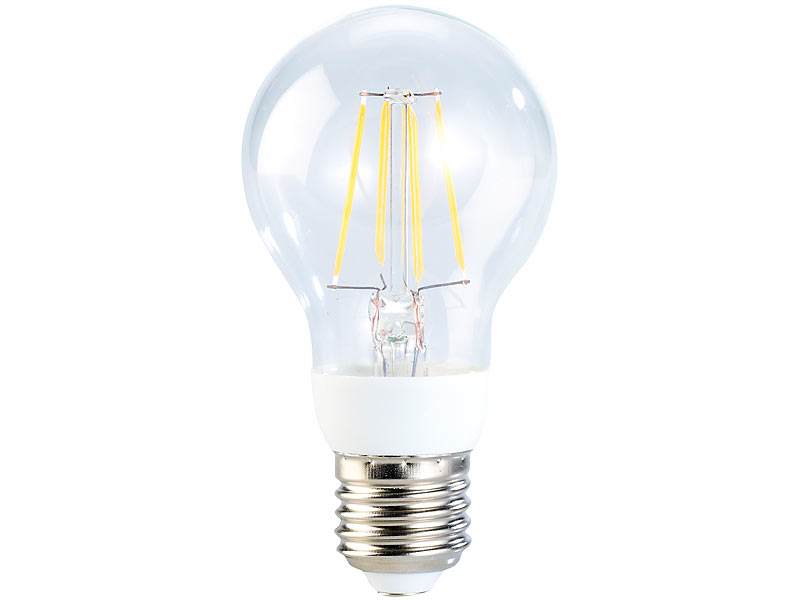 Luminea led gl hlampe led filament birne 4 watt e27 for Lampen 5000 kelvin