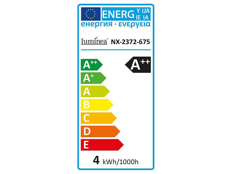 Luminea LED Glühlampe: LED-Filament-Birne, 4 Watt, E27, 5000 K, 450 ...
