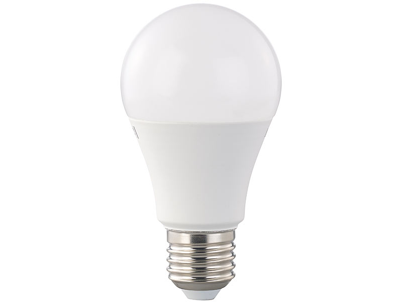 Luminea E27 LED-Licht: LED-Lampe, A+, 12 W, E27, dimmbar, warmweiß ...