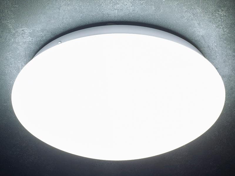 luminea high power led lampe mit radar bewegungsmelder 10. Black Bedroom Furniture Sets. Home Design Ideas