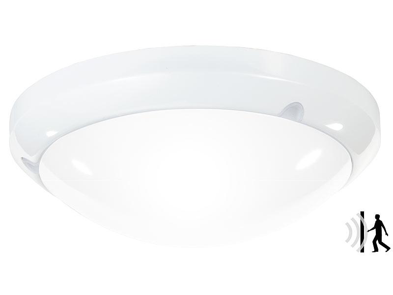 luminea bewegungsleuchten high power led lampe mit radar bewegungssensor 16 watt ip44. Black Bedroom Furniture Sets. Home Design Ideas