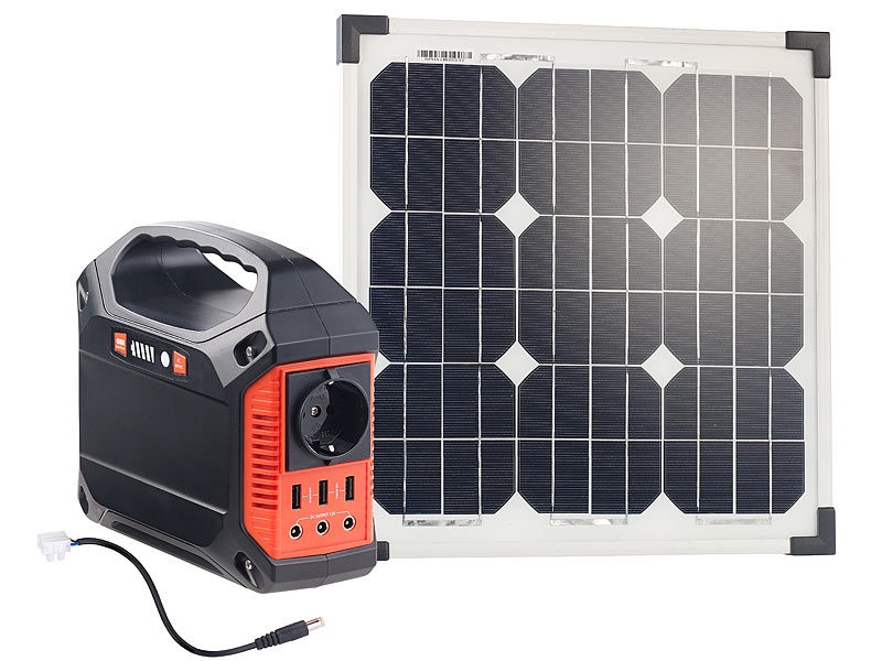 revolt solar set solar generator powerbank mit 20 w. Black Bedroom Furniture Sets. Home Design Ideas