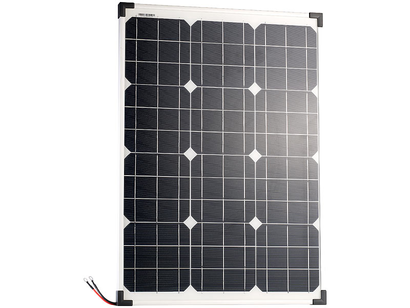 revolt solarmodul mobiles solarpanel mit monokristallinen solarzellen 50 watt solarpanel f r. Black Bedroom Furniture Sets. Home Design Ideas