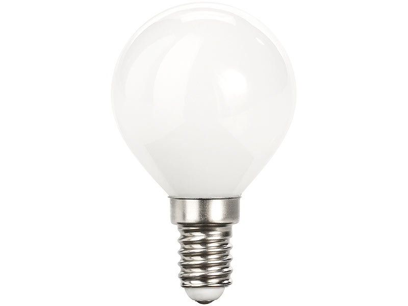 Luminea LED E14 Tropfen: Retro-LED-Lampe, G45, 3 Watt, E14, 350 lm ...