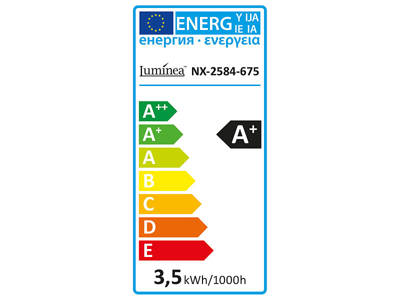Luminea LED Mais: High-Power LED-Kolben, E14, 3,5 W, 360°, 350 lm ...