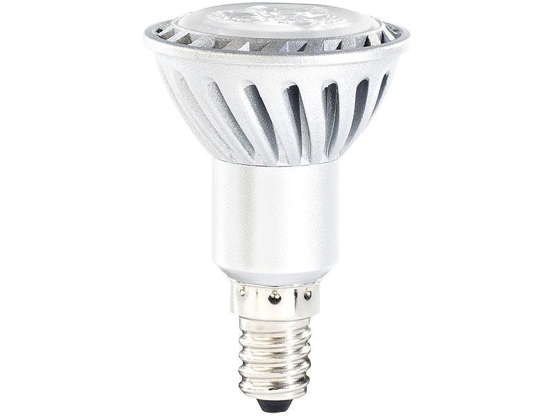 Luminea LED Strahler E14: LED-Spot mit Metallgehäuse, E14, 4 W, 230 ...