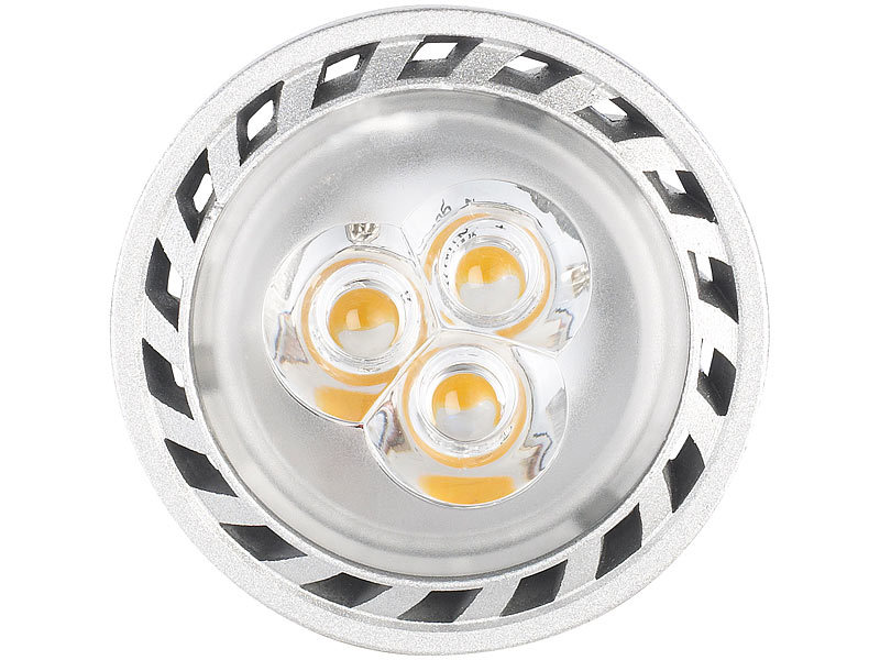 Luminea Gu5.3 LED-Lampe: LED-Spot mit Metallgehäuse, GU5.3, 3 W ...